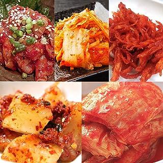 キムチ お試しセット 5品 詰め合わせ スルメキムチ 本漬白菜キムチ チャンジャ 黒玉 赤玉 コーライ食品