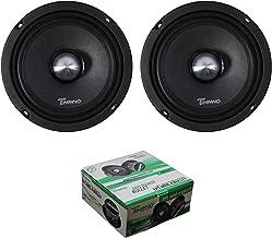 "$69 » Two Timpano 500 Watt 6"" Mid Range Bullet Loudspeaker Pro Car Audio MR6-4 Bullet"