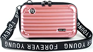 Mn&Sue Fashion Designer Mini HardSuitcase Wristlet CrossbodyHandbag for Women Storage Box Cosmetic Case