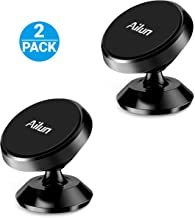 Ailun Car Phone Mount Holder 2Pack Magnet Dashboard Mount 360°Rotation Magnetic Holder for iPhone 11/11 Pro/11 Pro Max/X/Xs/XR/Xs Max /8/7 Galaxy S10 S10 Plus Note 10 Stick on Any Flat Surface Black