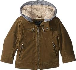 Alexander PU Suede Moto Jacket Sherpa Lined Fleece Hood (Toddler)