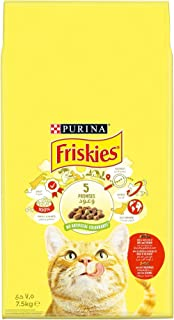 Purina Friskies with Beef, Chicken and Vegetables Cat Dry Food 7.5Kg