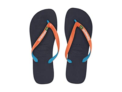 Havaianas Brazil Mix Flip Flops (Blue/Orange) Men