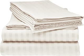 Bella kline Bedding 1800 Series 4 pc Bed Sheet Set with Pillowcases Hypoallergenic, 1 Soft Silky Luxurious Feel, Fitted and Flat Sheets Lifetime - Queen Size, Cream