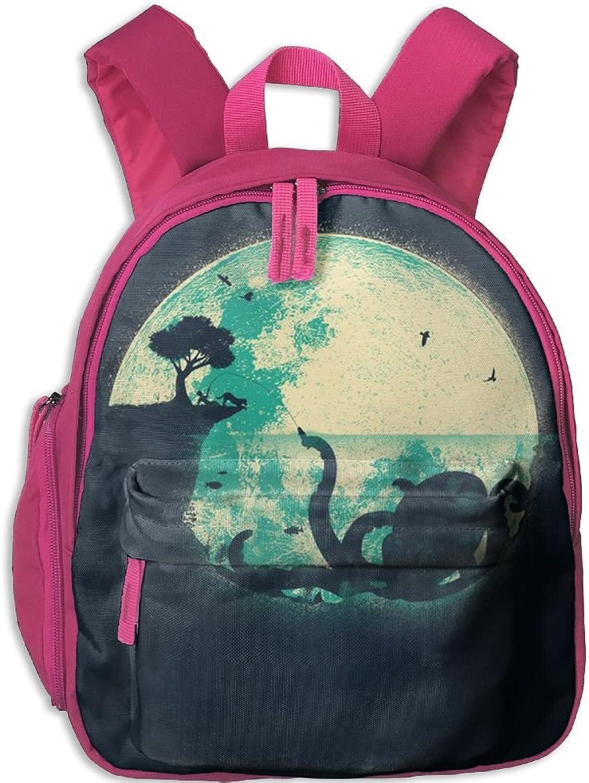 Pinta Ink Octopus Cub Cool School Book Bag Backpacks for Girl's Boy's