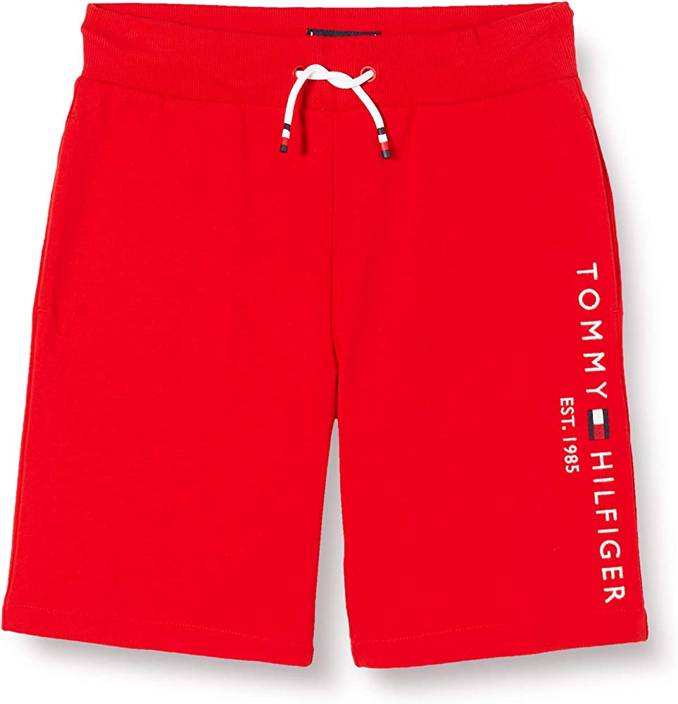 Tommy hilfiger essential sweatshort, pantaloncini sportivi per bambini, 100% cotone KB0KB05671