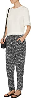 Joie Eurie Floral Print Silk Organza Pants, Caviar Black - Size XSmall
