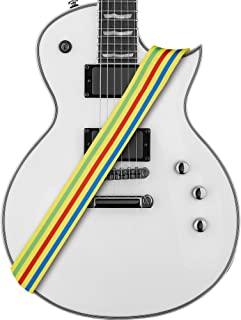 Amumu Stripe Guitar Strap Polyester Cotton for Acoustic, Electric and Bass Guitars with Strap Blocks & Headstock Strap Tie - 2