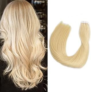 Tape in Hair Extensions Blonde Human Hair 18