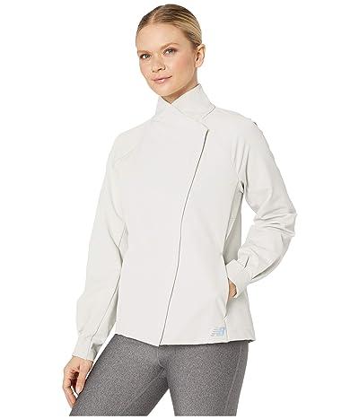 New Balance Q Speed Run Crew Jacket (Linen Fog) Women