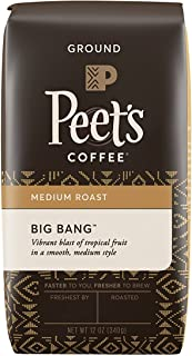 Peet's Coffee Big Bang, Medium Roast Ground Coffee, 12 Ounce Bag Brilliant, Bright Blend of Ethiopian Super Natural Coffee, Medium Bodied, Aromatic & Fruity with Citrus Notes