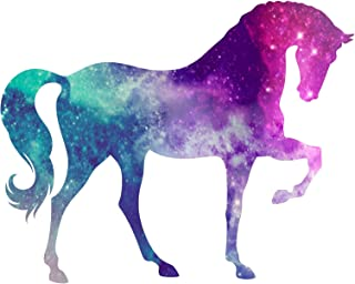 Vinyl Junkie Graphics Horse Custom Sticker Graphic Decal for Notebook car Truck Laptop Many Color Options (Starry Sky)