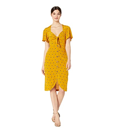 ASTR the Label Cole Dress (Mustard Dot) Women