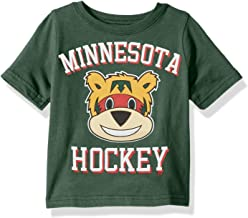 Outerstuff NHL Minnesota Wild Children Unisex Hello Mascot Short Sleeve Tee, 24 Months, Hunter