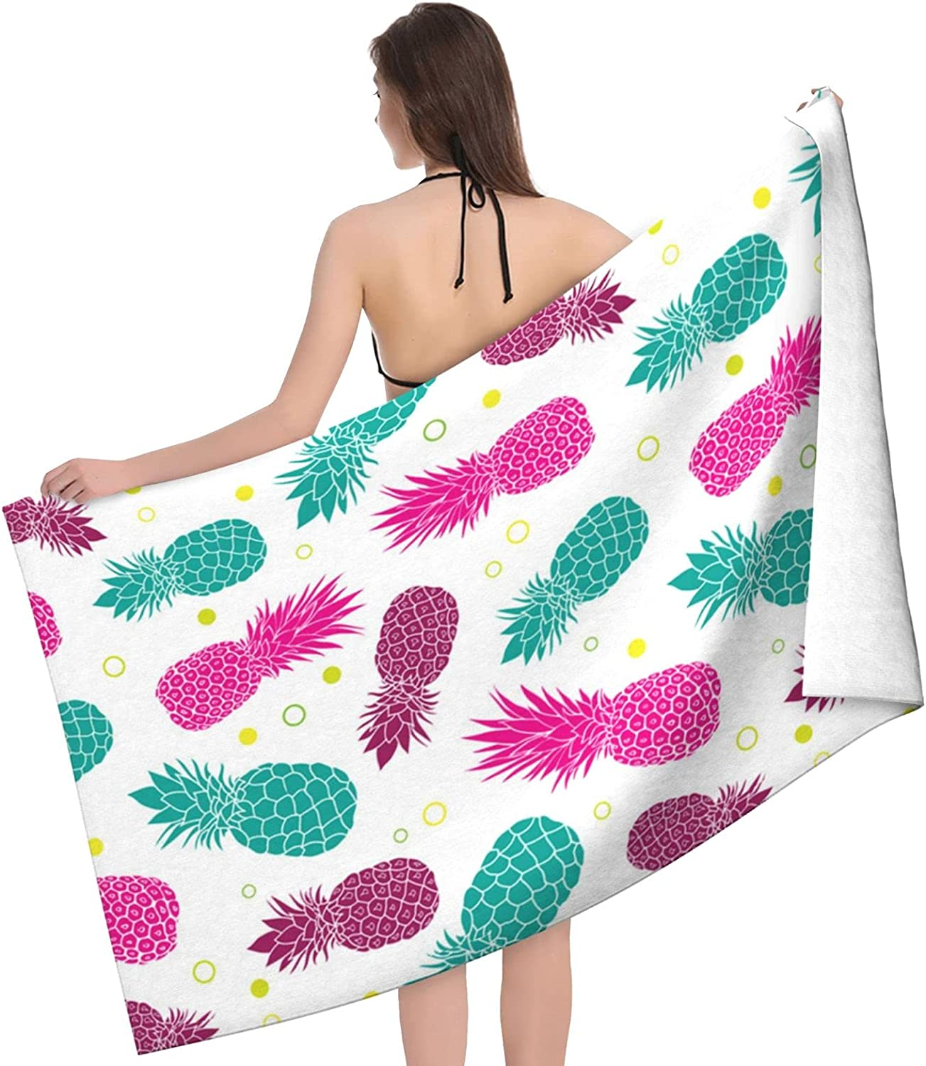 Tropical Pineapple Store Print Adult Beach New product type Double Towel - Towels