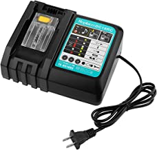 Powilling DC18RC Li-Ion Battery Charger with LED Screen for Makita 14.4V-18V Lithium-ion battery BL1830 BL1840 BL1850 BL1815