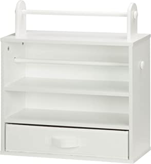 Honey-Can-Do CRT-06344 Tabletop Craft Storage Chest with Fabric Drawer, White