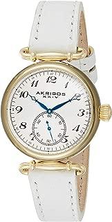 Akribos Xxiv Women's Quartz Watch, Analog Display and Leather Strap