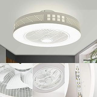 LEDMO LED Fan Plafonnier Moderne Nordique Dimmable Ventilateur Au Plafond avec Lampe Ultra-Mince Invisible 45W Lustre De V...
