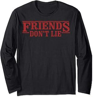 Netflix Stranger Things Friends Don't Lie Logo Style Manche Longue