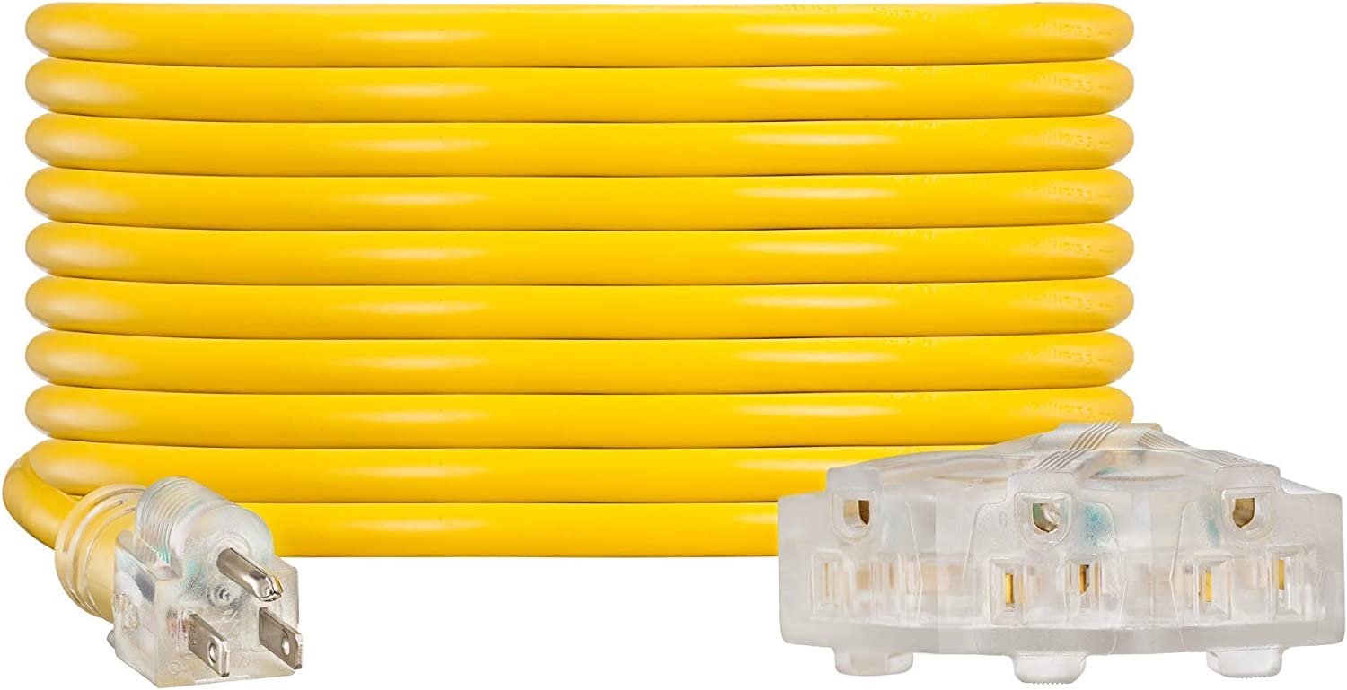 NC Regular store XQIN Heavy 70% OFF Outlet Duty Extension Cord 40 ft Gauge UL 12 Exten Listed