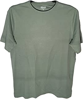 Kirkland, Mens 100% Peruvian Pima Cotton Crew Neck T-Shirt, Olive, Medium