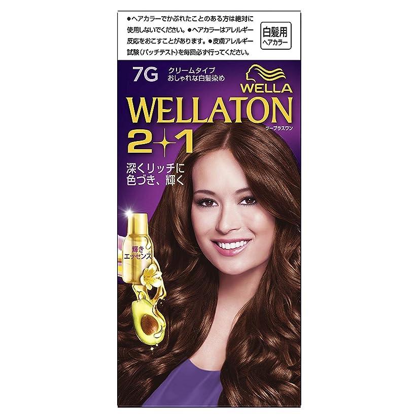 楕円形織る増強するウエラトーン2+1 白髪染め クリームタイプ 7G ×6個