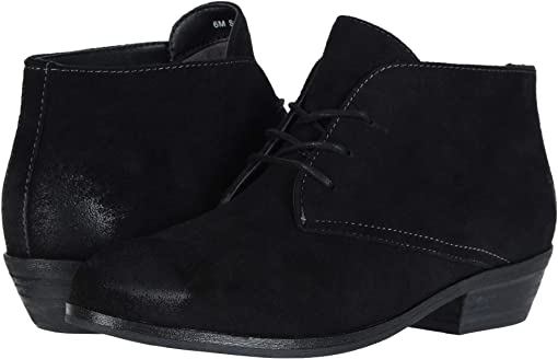 Black Cow Suede Leather