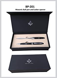 Masonic Ball Pen with Letter Opener set in a Gift Box