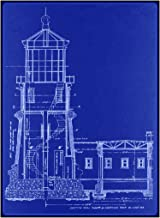 Split Rock Lighthouse Blueprint : Ralph Russell Tinkham circa 1907 : Art Print