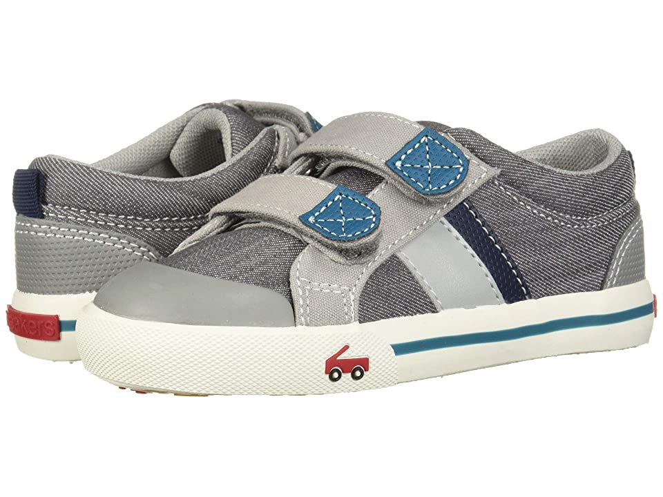 See Kai Run Kids Russell (Toddler/Little Kid) (Gray/Teal) Boys Shoes