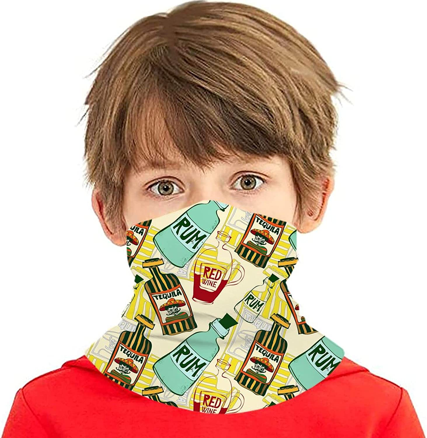 coloured background Ranking TOP8 with flowers Kids Mask Neck Face New color Gaiter Wash