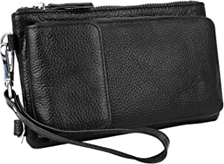 YALUXE Women's RFID Blocking Leather Wristlet Crossbody Wallet with Pocket for iPhone 7 Plus