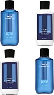 Bath & Body Works Paris for Men Two Body Lotion & Two 2 in 1 Hair Body Wash Lot of 4 Full Size