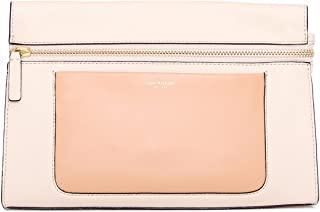 Isaac Mizrahi Womens Fashion Designer Handbags Janna Leather Clutch Evening Crossbody Bag