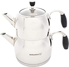 Korkmaz Flora Midi Capsulated Turkish Teapot Set