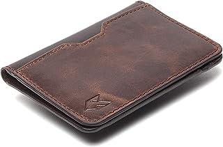 FOXHACKLE Leather Credit Card Wallet for Men ,Thin Bifold RFID Blocking Wallet, Slim Front Pocket Minimalist Card Holder W...