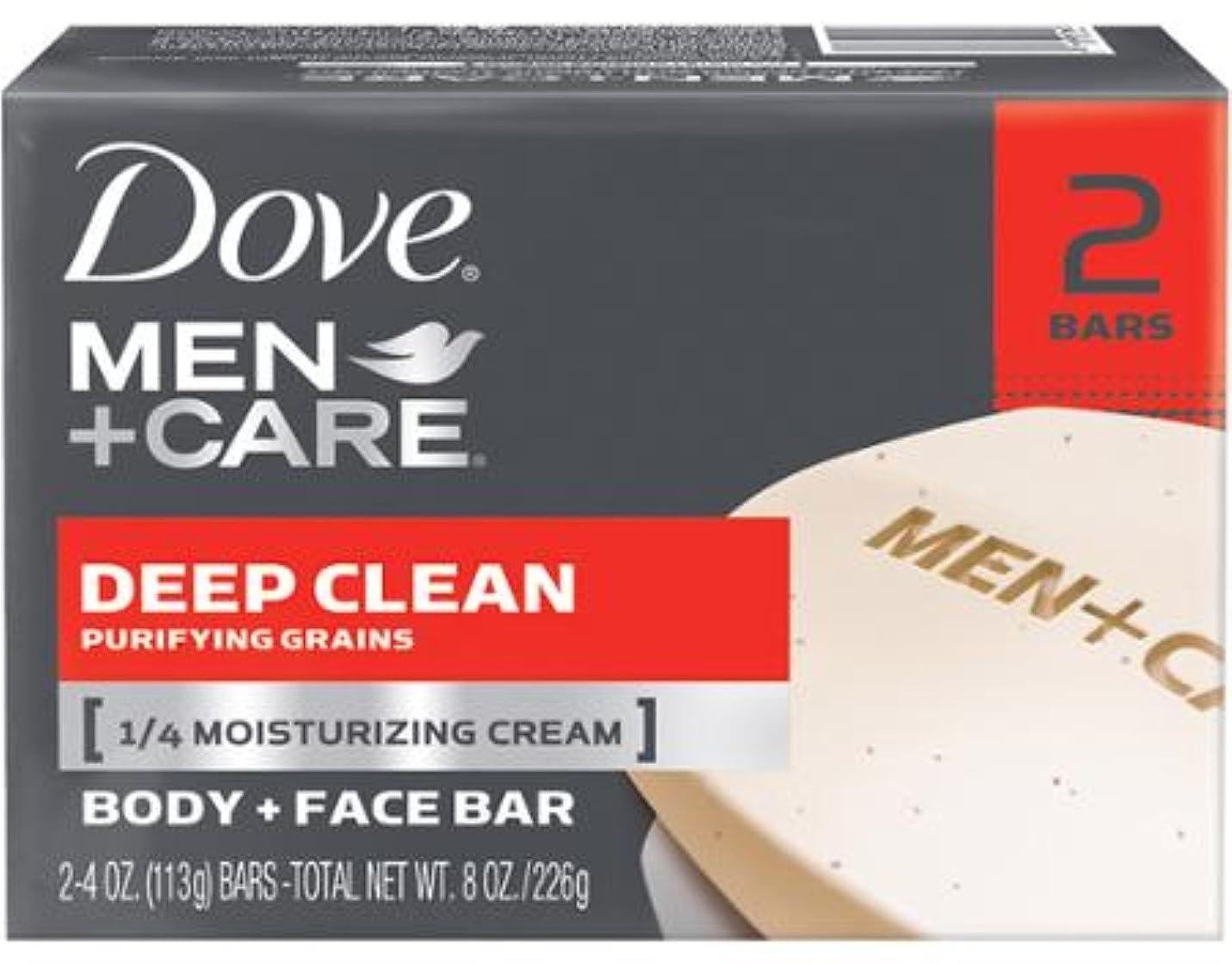 拍車円形貯水池Dove 男性+ケアボディ&フェイスバー、ディープクリーン4.25オズバー、2 Eaと(10パック) 10のパック