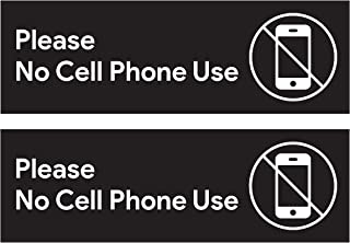 Please No Cell Phone Use Sticker Signs | Workplace Safety Signage for Cafe Counters, Registers, Vehicle Loading Areas, Gas Stations, and Restaurants