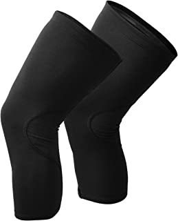 Snēk Cycling Merino Knee Warmers - Black - Made in the USA