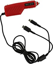ZedLabz 12v car charger adaper for Nintendo DS Lite, DSi, 2DS & 3DS - Red