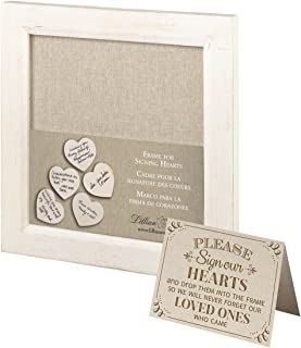 Lillian Rose Small Guest Signing Hearts Frame, Multi