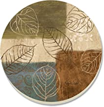 CounterArt Leaf Collage Absorbent Coasters, Set of 4
