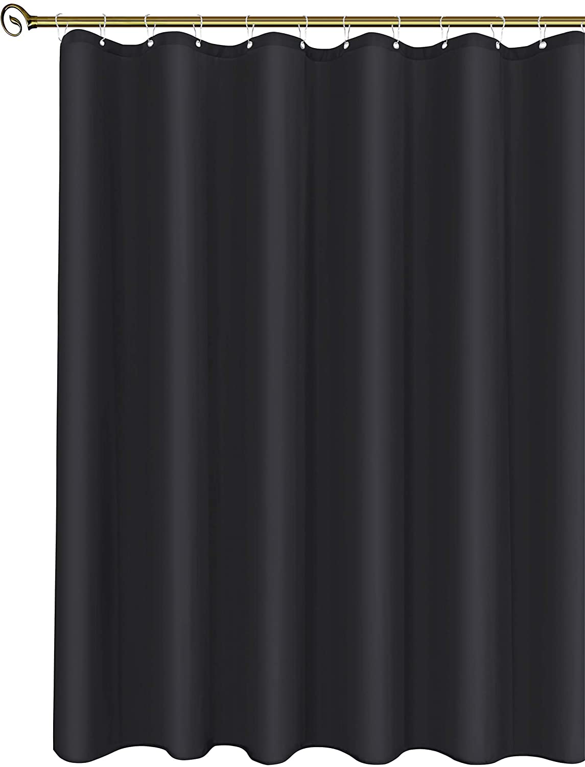 Black 54 Inch Width by 72 Inch Length Rust Resistant Grommets Top Weighted Bottom Machine Washable Water Resistant Bathroom Curtains Biscaynebay Hotel Quality Fabric Shower Stall Curtain Liners