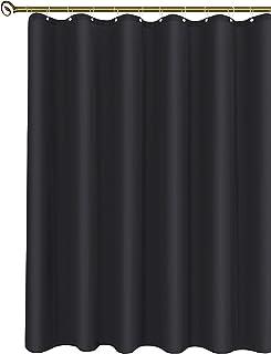 آستر پرده دوش پارچه ای بیس کین ، لاستیک پرده حمام مقاوم در برابر آب ، 72X72 ، سیاه