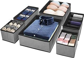Puricon 6 Boîtes de Rangement Ouvertes pour Etagère Armoire et Placard, Paniers de Rangement Pliables en Tissu pour Jouets...