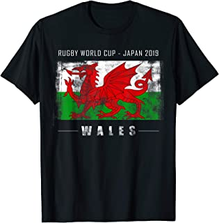 World Rugby Wales Team Player & Flag 2019 Fan Gift T-Shirt