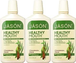 Jason Healthy Mouth Fresh Breath and Tartar Control Mouthwash, Cinnamon Clove, 16 Ounce (Pack of 3)