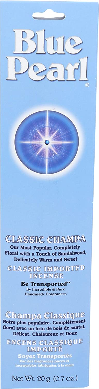 Blue Pearl Classic Fragrance Incense, Classic Champa, 20 Gram