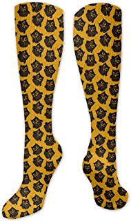 Seiobax, Happy Halloween Cute Owl Calcetines para hombres y mujeres Funny Crazy Running Athletic Travel Sports Over The
